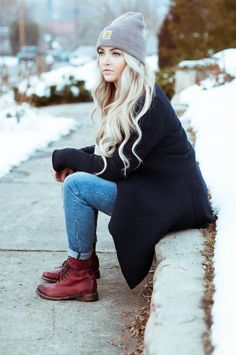 I love the boots and beanie!!!