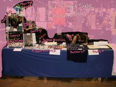 ACen 2011 Artist Alley Table by ~MuffinSquire on deviantART