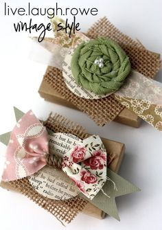 Many other pretty gift wrapping ideas here...