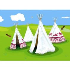 Vilac Play Tent Teepee (Patterned)