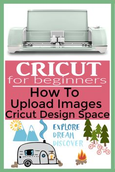 cricut hacks Every Cricut Beginner needs to know how to upload images to Cricut Design Space! Uploading images to Cricut Design Space is how we get the images we want in our projects to t How To Use Cricut, Cricut Help, Cricut Air 2, Cricut Vinyl, Cricut Fonts, Dyi, Circuit Machine, Cricut Design Studio, Cricut Explore Projects