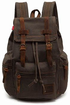 a2a4ed08e5bc EcoCity Vintage Canvas Backpack Rucksack Casual Daypacks   Find out more  about the great product at the image link.