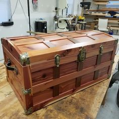 Stacey B. completed Stacey B. completed this project with the Steamer Trunk Antique Brass Plated Hardware Kit from Rockler.