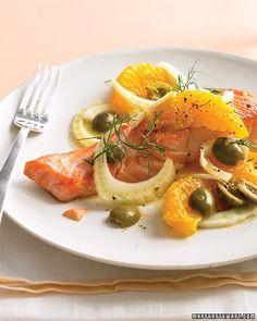 salmone arance e finocchio