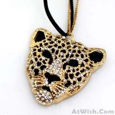Cheap Bohemia Leopard Head Hollow Sweater Necklace For Big Sale!Bohemia Leopard Head Hollow Sweater Necklace is very sweet and match any sweater perfectly! Pretty Necklaces, Cute Necklace, How To Make Necklaces, Girls Necklaces, Unique Necklaces, Beautiful Necklaces, Vintage Necklaces, Diy Necklace Projects, Wooden Necklace