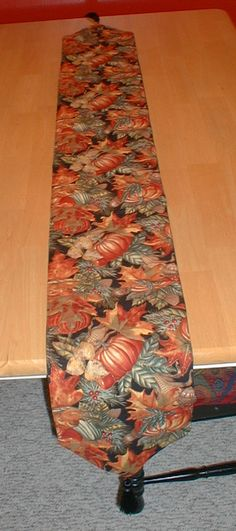 Fall table runner- sorry picture isn't closer with details