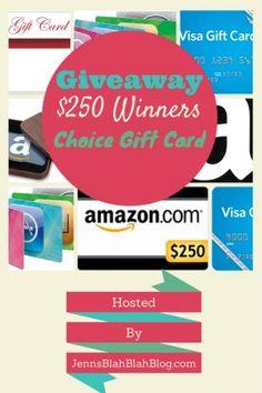 $250 Winners Pick It Gift Card Giveaway