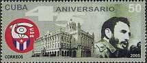 Postage Stamps - Cuba 2005 45th Ann. CDR- Fidel de Castro
