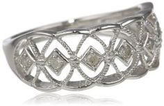 Sterling Silver Diamond Fashion Ring (0.1 cttw, H-I Color, I2-I3 Clarity)