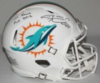 """RYAN TANNEHILL Signed LE Dolphins Full-Size Authentic Pro-Line Speed Helmet Inscribed """"1st Round Pick 2012"""" STEINER COA LE 17 - Game Day Legends"""