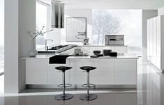 Contemporary White Kitchen Design - Decoist
