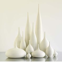 Grand Collection of 12 modern white matte ceramic vases by s.- Grand Collection of 12 modern white matte ceramic vases by sara paloma ceramics and pottery large white modern bud vase sarapaloma - Ceramic Clay, Ceramic Vase, Porcelain Vase, Pottery Vase, Ceramic Pottery, Thrown Pottery, Slab Pottery, Bottle Vase, Glass Vase