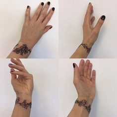 10 Stylish Wrist Tattoo Ideas for Women: #9. FLORAL BRACELET