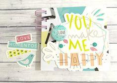 "Mini álbum ""You make me happy""   Corta, Pega y Scrapea   Bloglovin'"