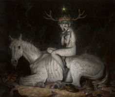 The Night Mare by Gerald Brom #dark #art #painting
