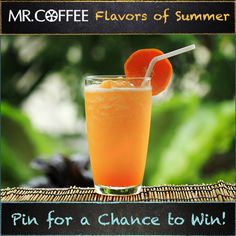 Is Creamy Orange  Green Tea your favorite flavor of frappe? You could win a Mr. Coffee® Café Frappe! Enter our Pinterest contest today -- visit us on http://on.fb.me/1qsda4s to enter. Contest ends 7/25/14. Good luck and don't forget to click the pin to see the recipe! #MrCoffee #Coffee #summer #contest #pintowin