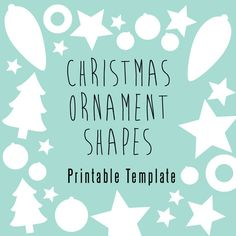 Free printable Christmas ornaments from The Craft Train - so many possibilities to create!
