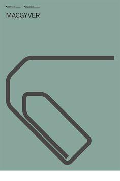 McGyver cartaz minimalista