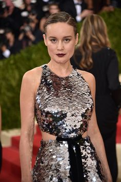 Pin for Later: See Every Elegant Beauty Look From the Red Carpet at the Met Gala Brie Larson