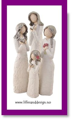 Handmade in Lillesand, Norway. Beautiful figurines, 3 sizes, wide selection.