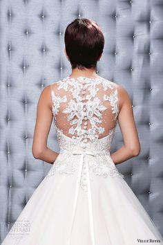 veluz reyes 2014 bridal georgina wedding dress illusion beaded back close up