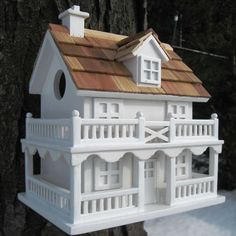 Decorative Birdhouses for $59.95 with Free Shipping! You will be stunned by the detail of this Novelty Cape Cod painted decorative bird house.