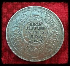 ... BRITISH INDIA- KING GEORGE VI - ONE SILVER RUPEE VERY VERY RARE COIN