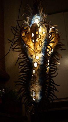 Войлок в интерьере.  Ночная лампа-Пуль Вульгариус. Августина.
