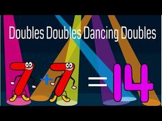 Doubles Doubles Dancing Doubles (A song about number doubles) Math Games For Kids, Fun Math Activities, First Grade Activities, Math Literacy, 1st Grade Math, Grade 3, Second Grade, Doubles Song, Math Doubles