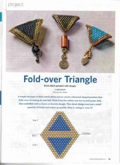 diamond to fold into a triangle: