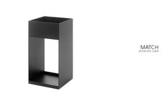Umbrella stand MATCH from Schönbuch - fabricated from thin-walled aluminium with invisible welds.