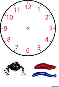 Uhr lernen_Uhr basteln_HalloliebeWolke