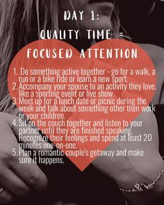 This challenge helps you discover your spouse's primary love language between quality time, words of affirmation, receiving gifts, acts of service and physical touch. Marriage Tips, Happy Marriage, Love And Marriage, Godly Marriage, Quality Time Quotes, Five Love Languages, Love Dare, Touch Love, Relationships Love