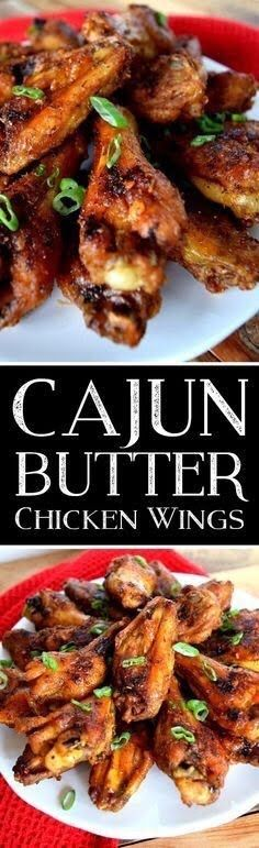 Cajun Butter Chicken Wings is inspired from a seasoning blend common among Cajun cuisine, with a few variations. Cajun Recipes, Turkey Recipes, Cooking Recipes, Cajun Cooking, Cajun Food, Creole Recipes, Butter Chicken, Chicken Milk, Chicken Alfredo