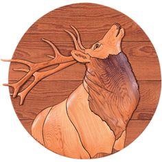 Elk - Intarsia - Judy Gale Roberts Studio