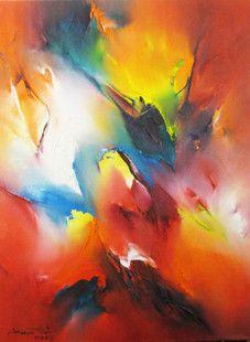 Öl auf Leinwand, abstrakte Malerei