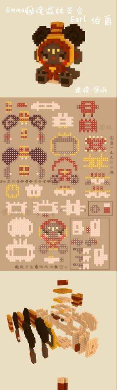 Melty Bead Patterns, Perler Patterns, Beading Patterns, Diy Perler Beads, Pearler Beads, Minecraft Houses, Pixel Art, Origami, Creativity
