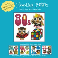 Whether it's bopping in the '50s, rockin' in the '60s, discoing in the '70s	  or jammin' in the '80s, you better believe that the Hooties were part of it!	  Whatever is your favorite decade, this pattern let's you celebrate it... Hootie Style!