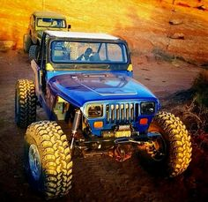 Beautiful Jeep- poetry in motion. Jeep Wrangler Yj, Jeep Cj, Jeep Truck, 4x4 Trucks, Jeep Carros, Extreme 4x4, Jeep Quotes, Blue Jeep, Badass Jeep