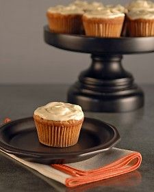 Carrot cupcakes on Martha Stewart