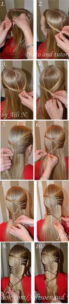 Amazing Hairstyle for Long Hair - AllDayChic Amazing hat noch viele tolle Ideen mit Step bei Step-Anleitungen dabei. Finde das super? Ausprobieren macht Spass. Das ist ja eher schon ein Kunstwerk, oder? Aber mit Übung schafft man's.