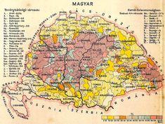 Magyar Hungary Map - Group all your extended family efforts into one dedicated website, we are experts in setting this up Hungary History, Budapest Travel Guide, Little Paris, Austro Hungarian, Old Maps, Prehistory, Historical Maps, Budapest Hungary, Family History