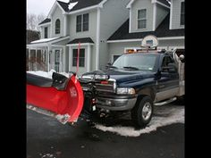 "30"" snow plowing a parking lot : Dodge Cummins with Boss Power V Plow vs Blizzard Charlotte."