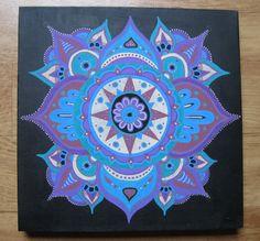 Mandala sur fond noir by yuzueto on Etsy