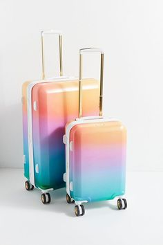 Shop CALPAK + Oh Joy! Sunset Luggage Set at Urban Outfitters today. Calpak Luggage, Best Carry On Luggage, Kids Luggage, Cute Luggage, Travel Luggage, Travel Bags, Luxury Luggage, Luggage Backpack, Cute Suitcases