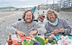 The Hairy Bikers - TV chefs. Photo taken in Douglas, Isle of Man.