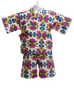 Kids pajamas southwest aztec design kimono jinbei