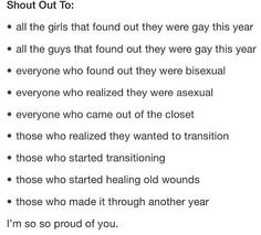 This made me cry.... I am really proud of all of you, including myself.<<<Oh hey! That's me! And yeah! Proud of us!