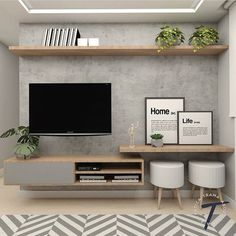 Excellent small living room designs are offered on our site. Take a look and you will not be sorry you did. Home Interior Design, Living Room Tv Unit Designs, Small Living Room Decor, Home Living Room, Apartment Decor, Living Room Decor Apartment, Interior Design Living Room, Living Room Diy, Living Room Tv Unit