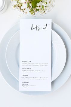 Adella - Minimal Wedding Menu Template, Minimalist Wedding Menu, Modern Wedding Menu, Let's Eat Menu, Templett Wedding Menu Modern minimalist wedding menu printable template. Shop the Adella collection at Unmeasured Events. Wedding Menu Template, Wedding Menu Cards, Wedding Stationary, Minimalist Wedding Invitations, Modern Wedding Stationery, Event Invitations, Modern Wedding Invitations, Invites, Modern Minimalist Wedding